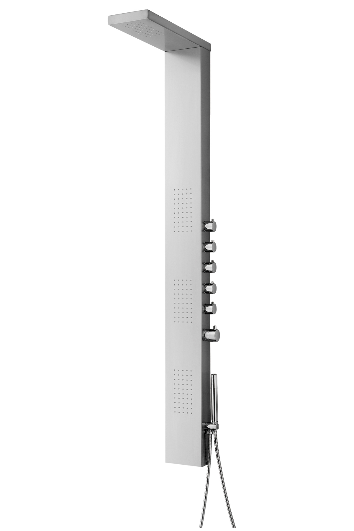 "65"" Thermostatic Shower Panel with Rainfall Overhead, Showerhead - Click Image to Close"