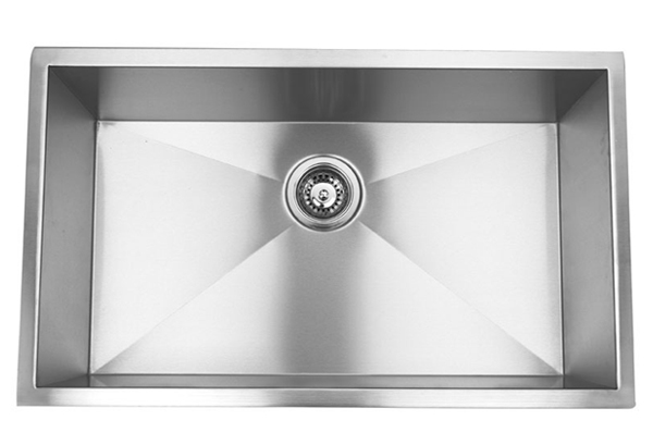 "32"" Undermount Stainless Steel Single Bowl Kitchen Sink"