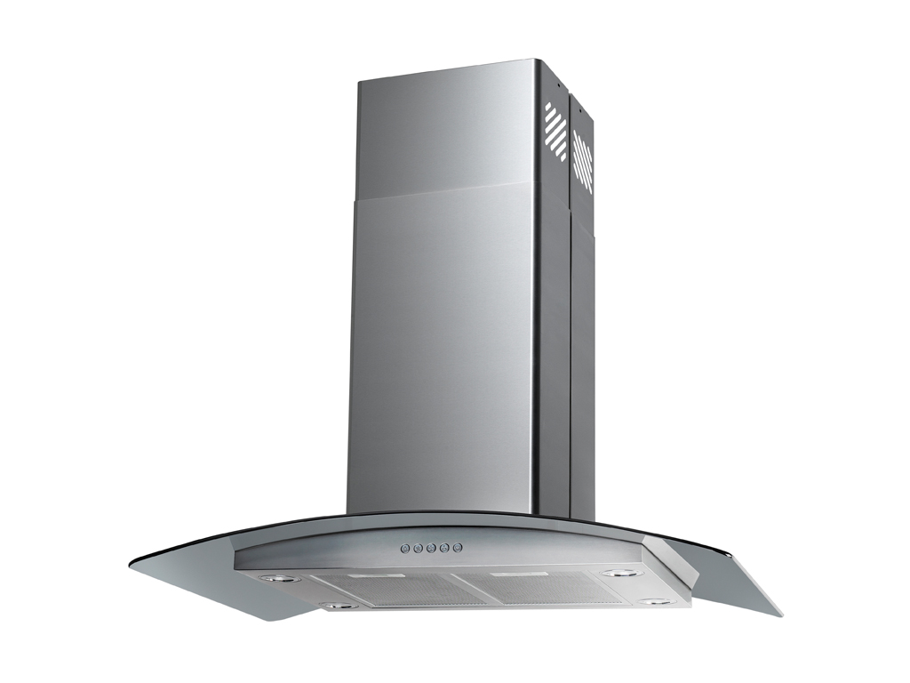 "36"" Island Stainless Steel Range Hood Vent with Charcoal Filter"