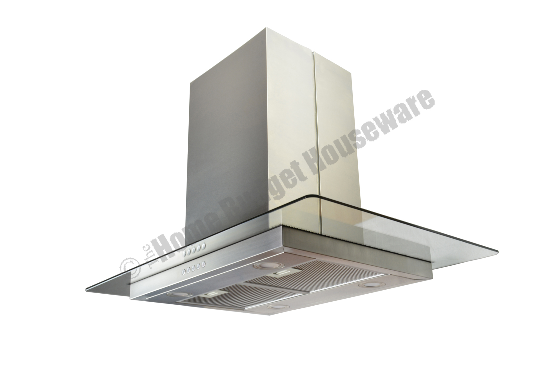 36 Island Stainless Steel Range Hood Vent With Charcoal