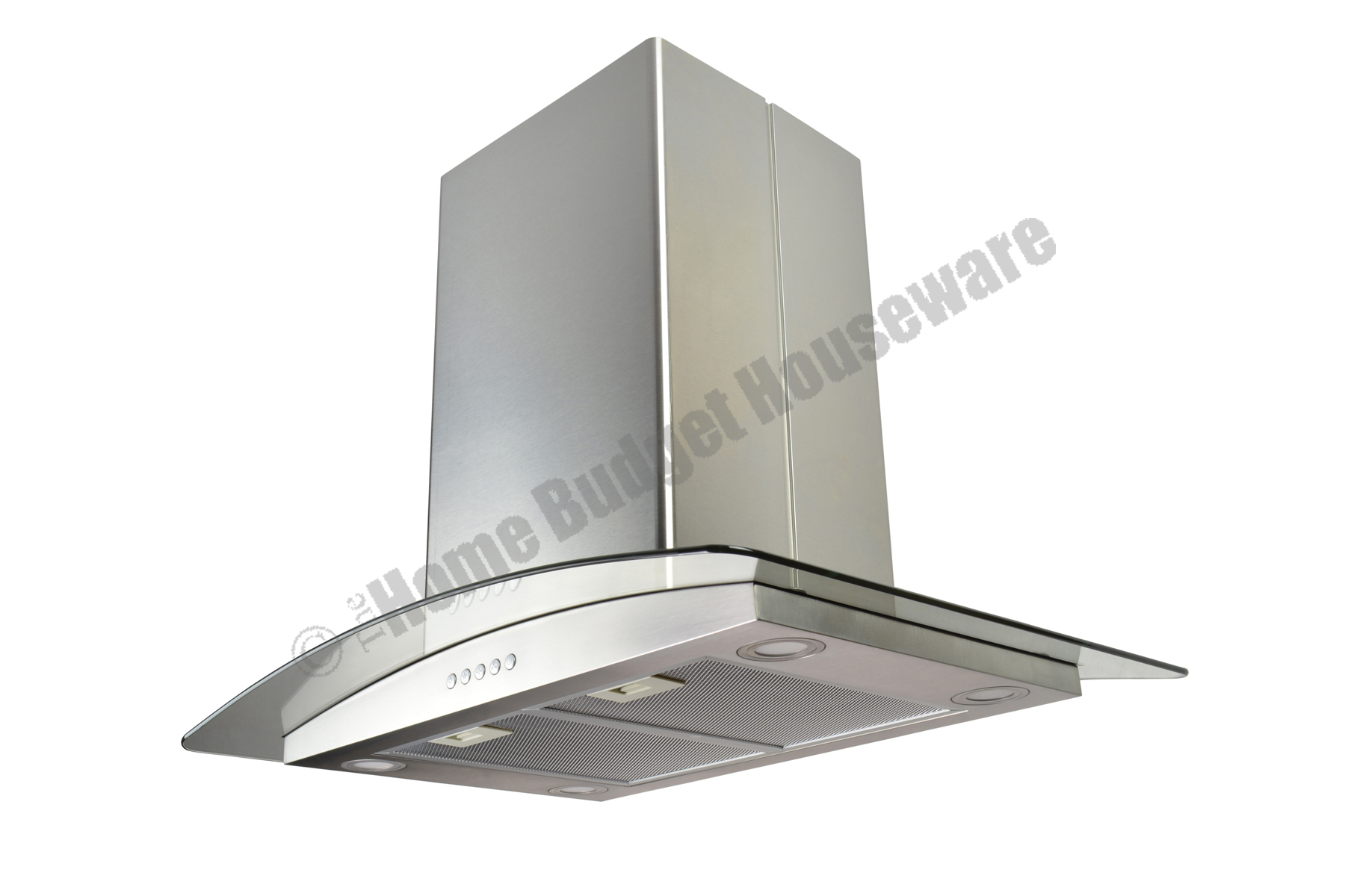 30 Island Stainless Steel Range Hood Vent With Charcoal