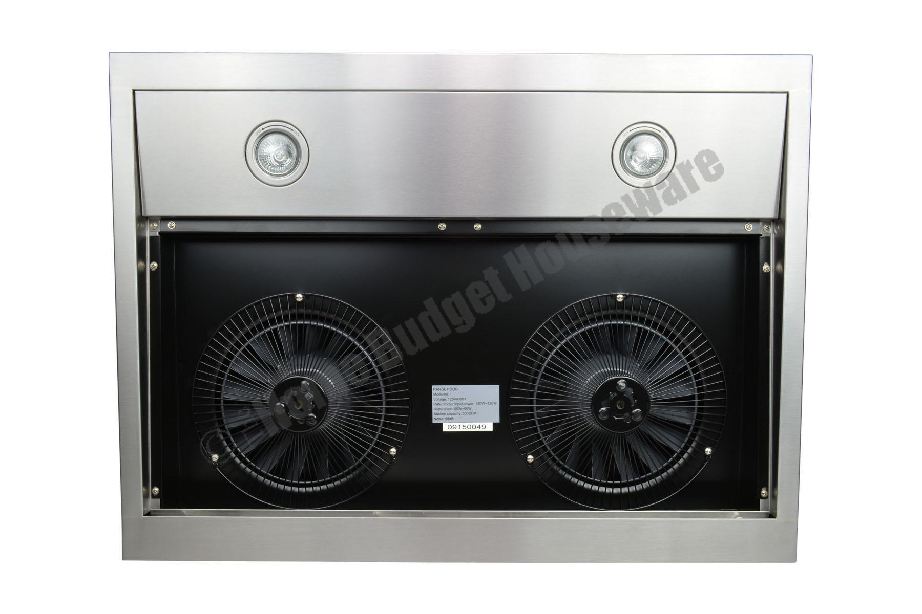 30 Wall Mount Stainless Steel Range Hood Dual Motor Fan Kitchen ...