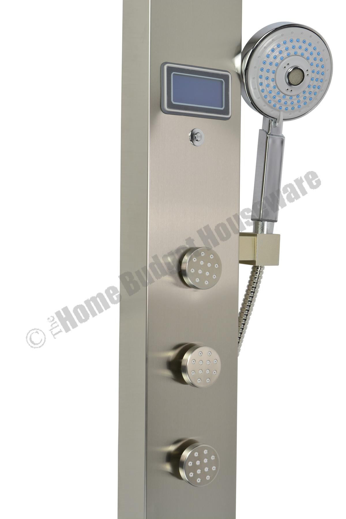 59 Bathroom Shower Panel With Rainfall Showerhead 3 Jets
