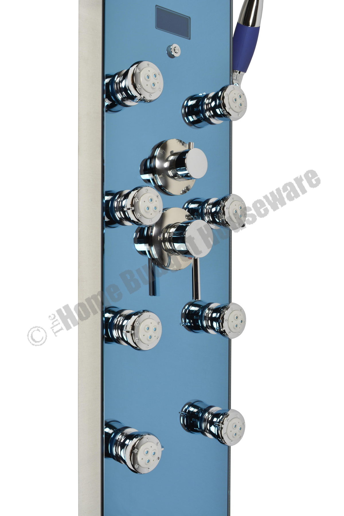 52 Shower Panel with rainfall showerhead 8 Jets Shower Panel System ...