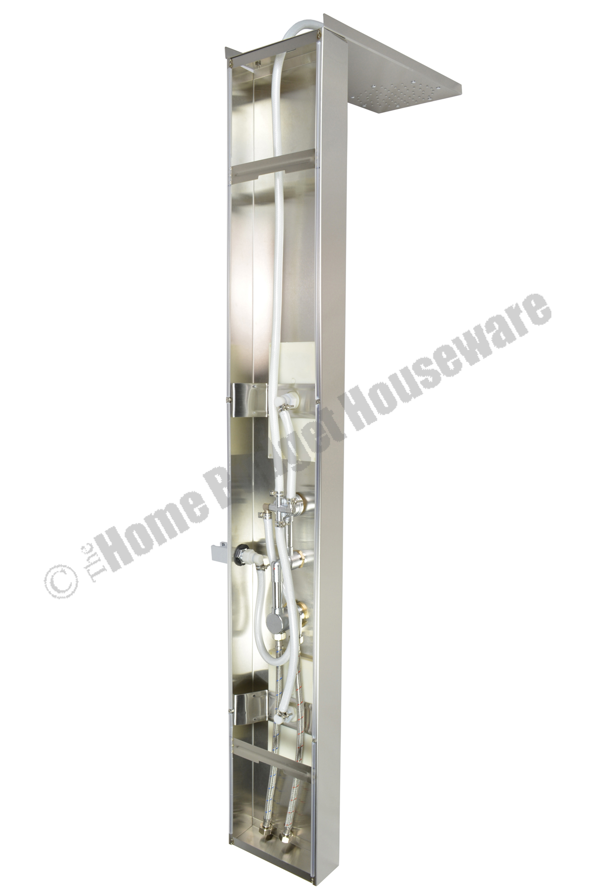 Overhead rainfall style body jets stainless steel for Shower tower with body jets