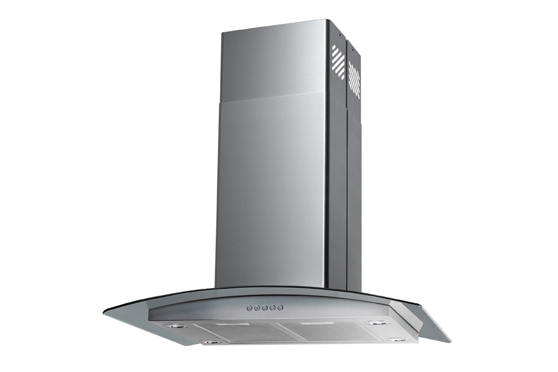 "30"" Island Stainless Steel Range Hood Vent with Charcoal Filter"